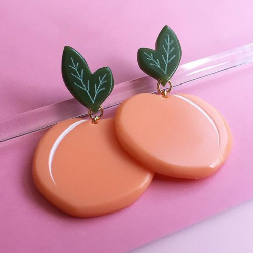 Unique Errings Design In Peach Color #earrings #jewelery