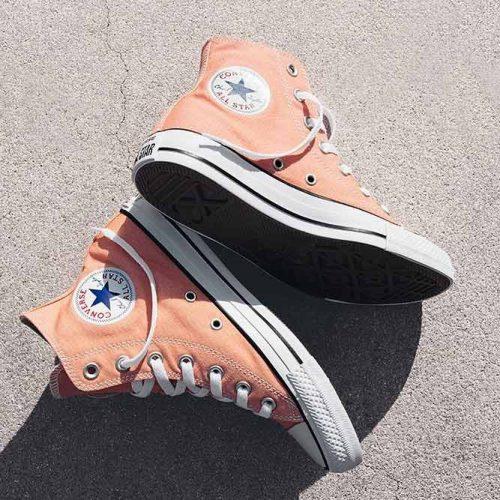 Peach Sneakers Design #sneakers #converse