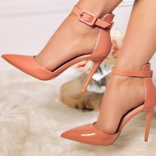 Peach High Heels Deesign #peachheels #highheels