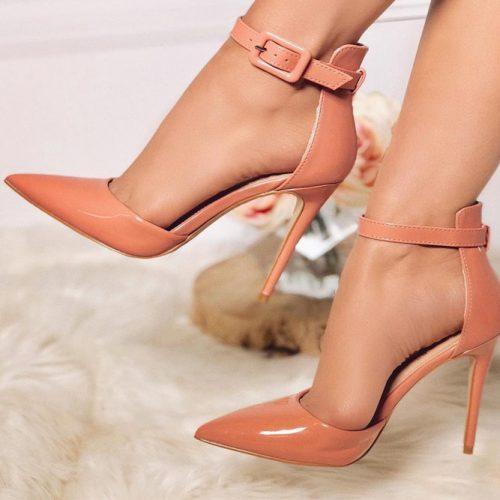 Peach High Heels Deesign #peachheels #highheels