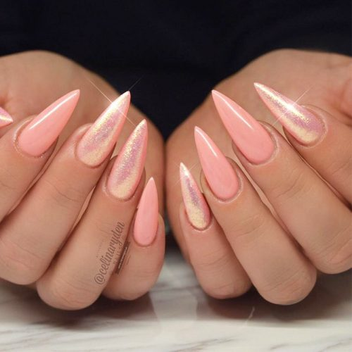 Cool Nail Designs In Peach Color picture 2