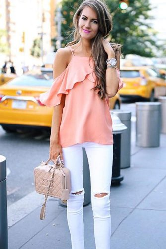 Outfit Ideas With Peach Colour Combinations picture 2