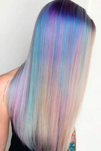 Soft Pale Raindow Ombre For Long Hair #longhair