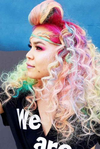 Stunning Hairstyle Ideas for Rainbow Hair Picture 1