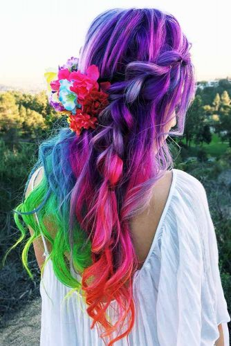 Stunning Hairstyle Ideas for Rainbow Hair Picture 3