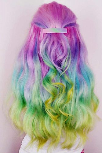 Long Rainbow Hair Ideas for a Bright Everyday Look Picture 1