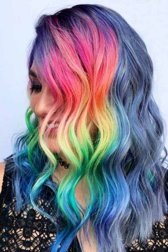 Long Rainbow Hair Ideas for a Bright Everyday Look Picture 6