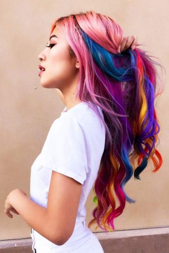 Long Rainbow Hair Ideas for a Bright Everyday Look Picture 5