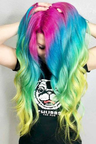 Long Rainbow Hair Ideas for a Bright Everyday Look Picture 2