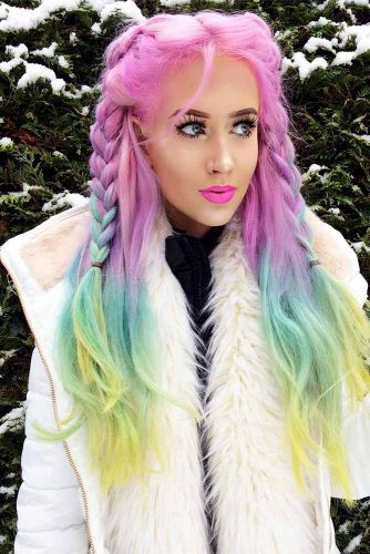 Stunning Hairstyle Ideas for Rainbow Hair Picture 4