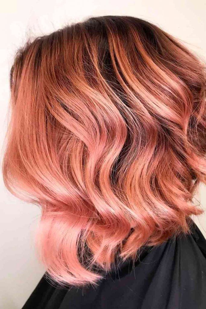 Rose Gold Bob Hair #prettyhairstyles #hairstyles