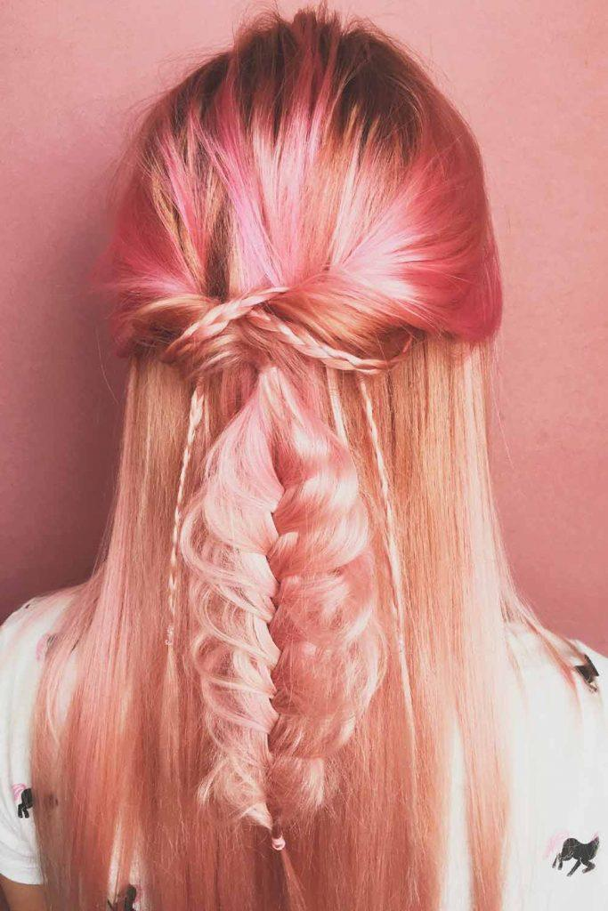 Dyeing Your Hair Rose Gold at Home #hairdyeing