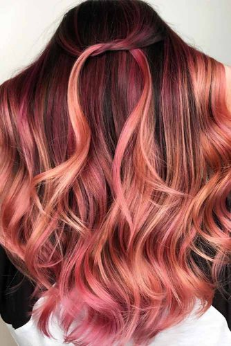 Dark Shades of Rose Gold Hair Picture 5