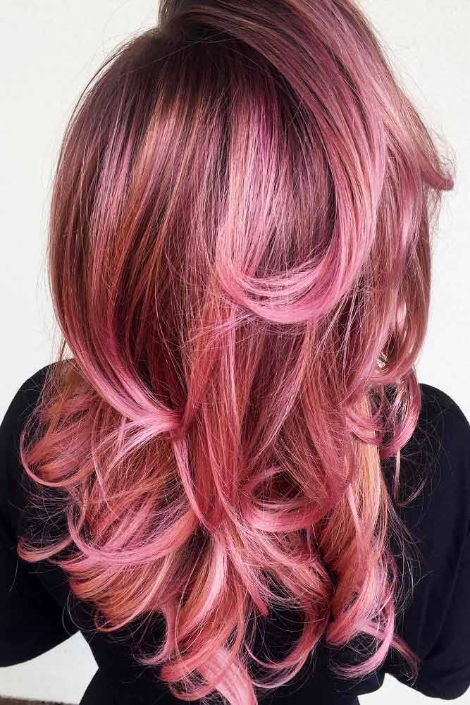 Saturated Rose Gold Hair Color Picture 6