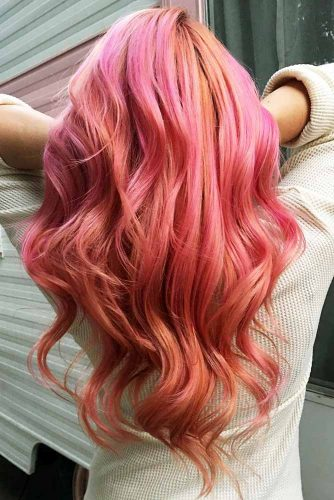 Saturated Rose Gold Hair Color Picture 4