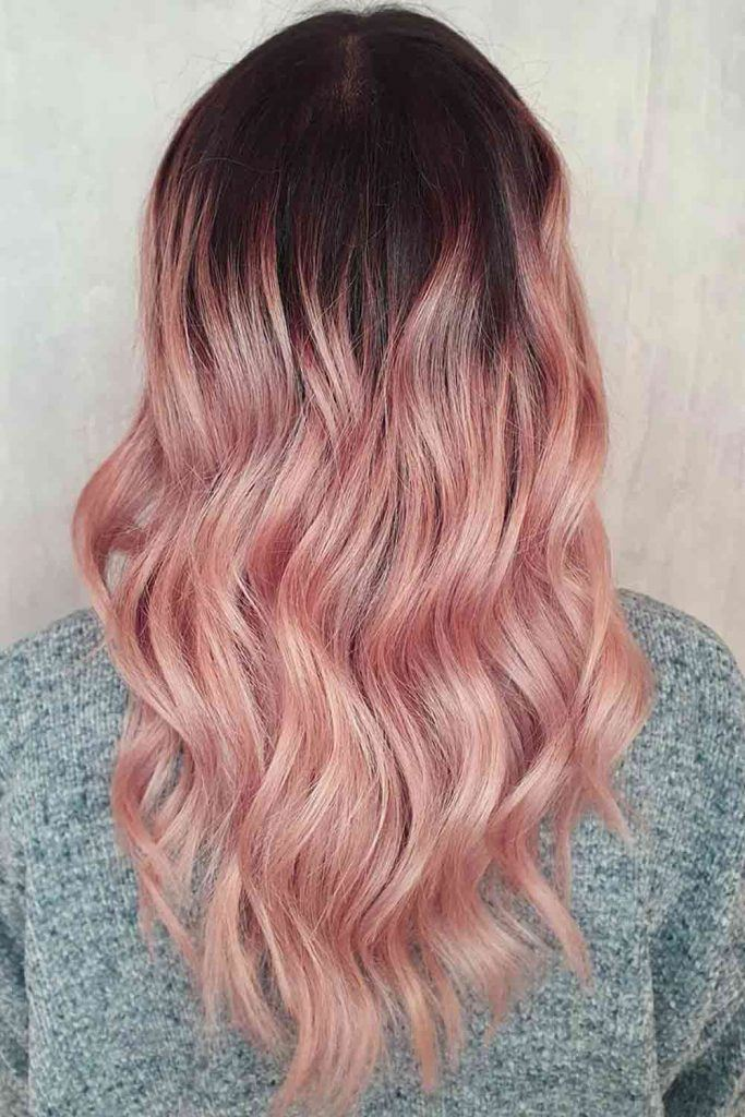 Rose Gold Ombre Hairstyle #ombrehair #ombre