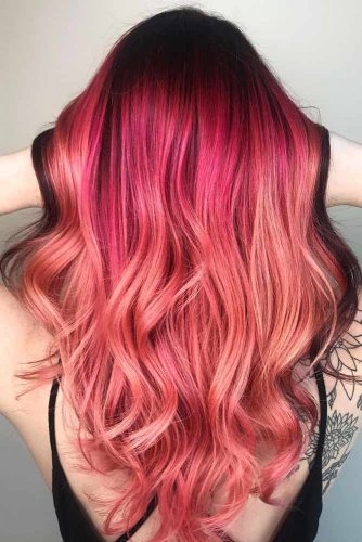 Dark Shades of Rose Gold Hair Picture 6