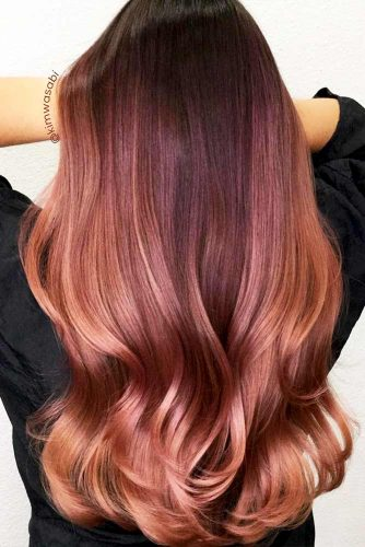 Peachy Shades of Rose Gold Hair Picture 5