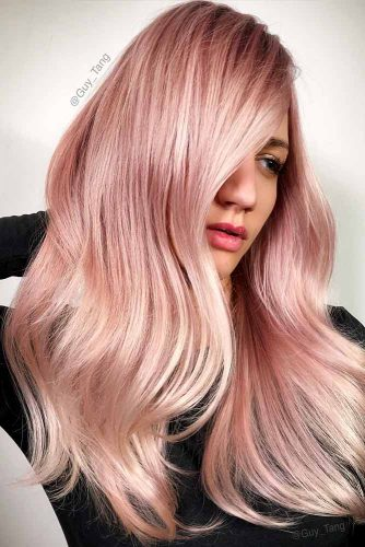 Beautiful Pastel Rose Gold Hair Ideas Picture 6