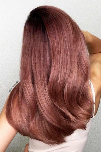 Peachy Shades of Rose Gold Hair Picture 4