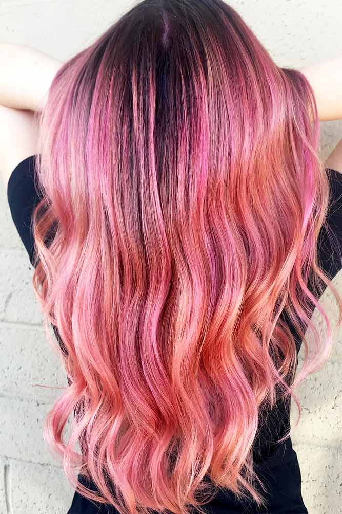Saturated Rose Gold Hair Color Picture 3