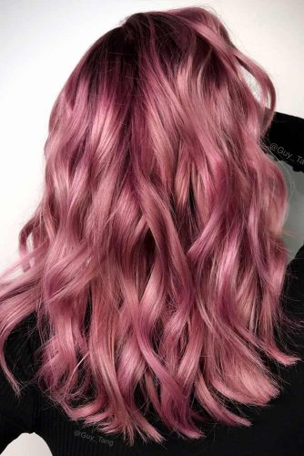Dark Shades of Rose Gold Hair Picture 4