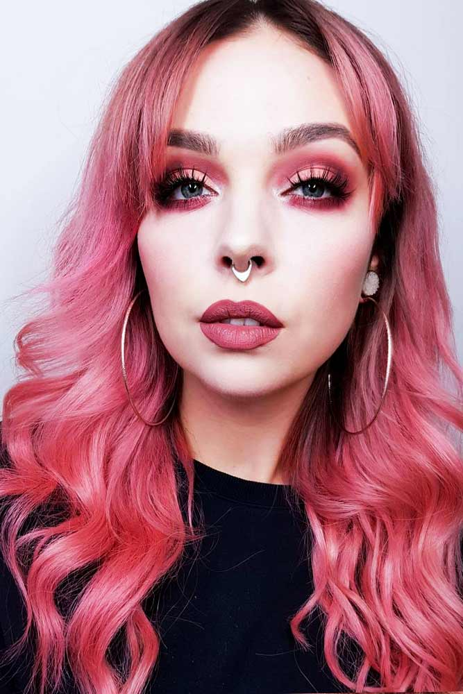 Saturated Rose Gold Hair Color Picture 5