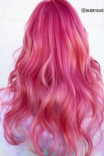 Saturated Rose Gold Hair Color Picture 1