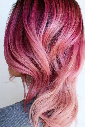 Saturated Rose Gold Hair Color Picture 2