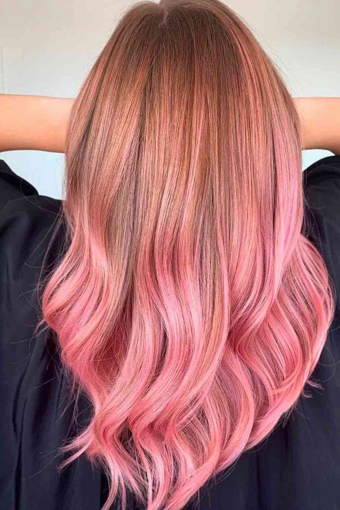 Rose Ombre On Brown Hair #prettyhairstyles #haircolors