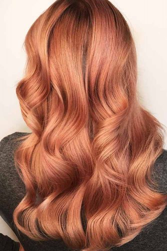 Peach Shade Rose Gold Hair Picture 2