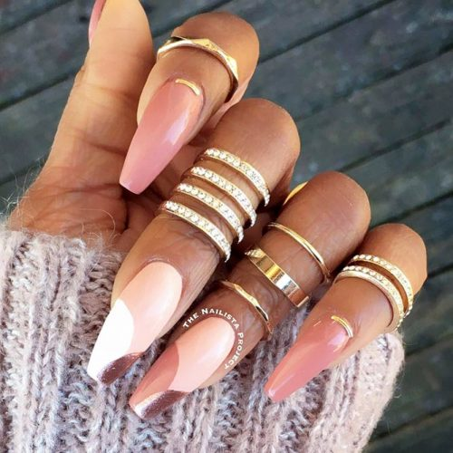 Beautiful Nude Colored Shellac Nails Picture 1