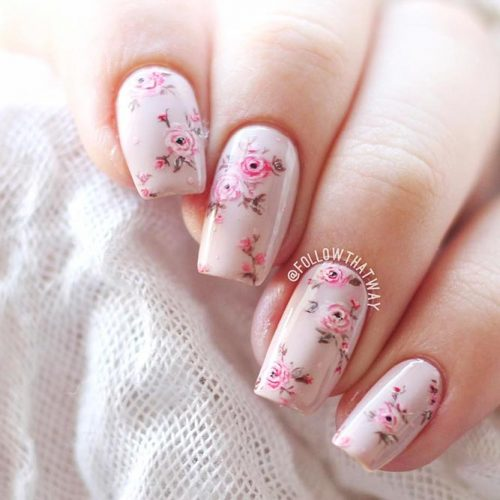 Soft Floral Shellac Nail Designs Picture 1