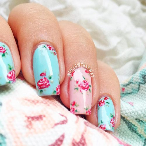 Soft Floral Shellac Nail Designs Picture 3