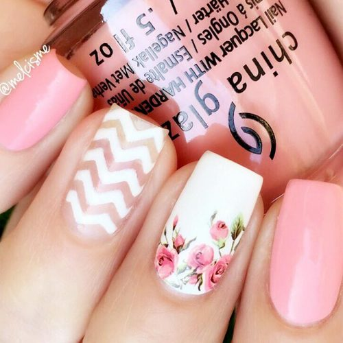 Pink Pastel Colored Shellac Nails Picture 1