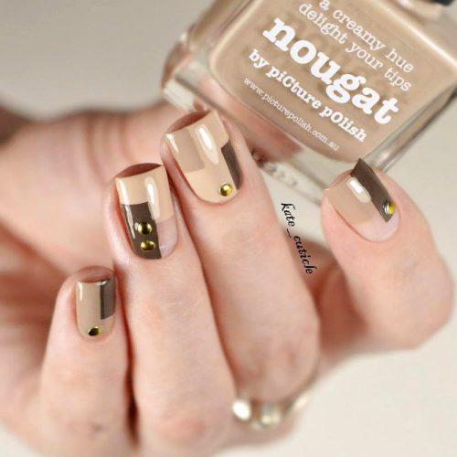 Beautiful Nude Colored Shellac Nails Picture 4