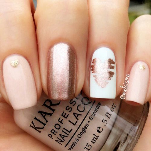 Beautiful Nude Colored Shellac Nails Picture 5