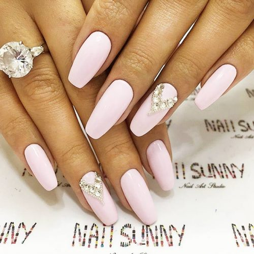 Shellac Nails Designs with Rhinestones for a Classy Look Picture 2
