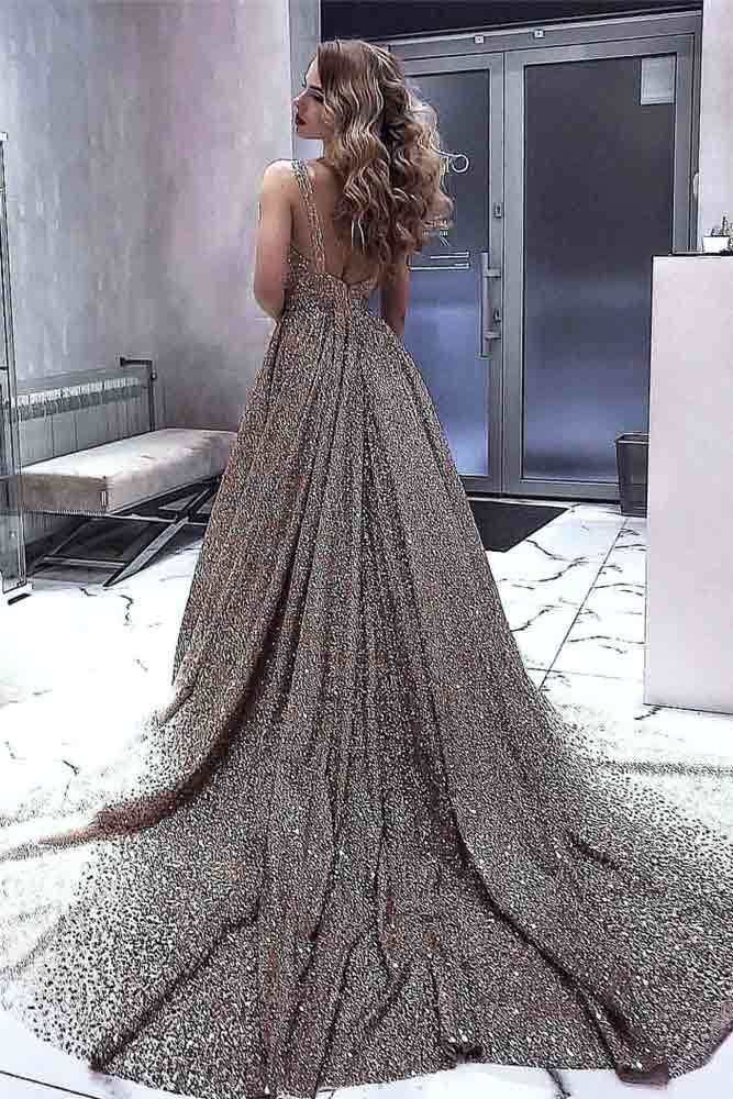 Ball Gown Dress With Train #ballgown #maxidress
