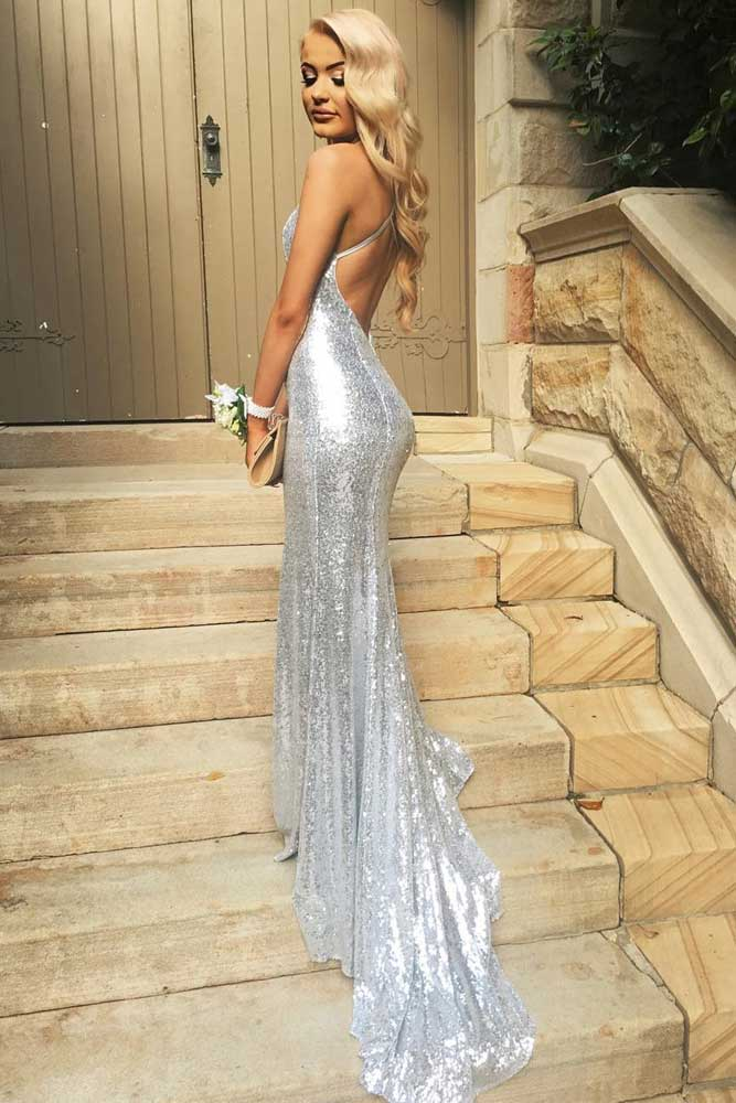 Long Silver Dresses picture 3