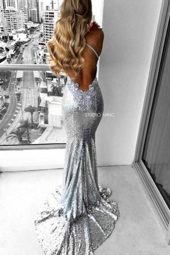 Long Silver Dresses picture 1