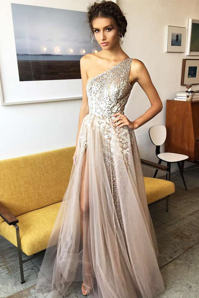 Silver Dress Designs For Prom picture 1