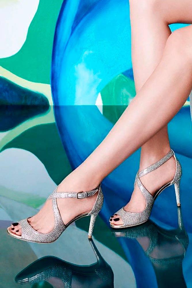 Elegant Crossed Sandals Heels #crossedheels #sandals