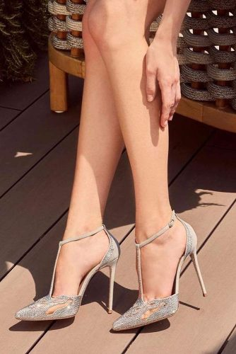 Silver Heels For Prom With Embellished picture 6