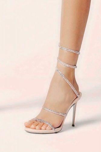 Elegant Silver Prom Heels #romheels #rhinestonesheels