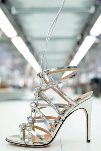 Metallic Sandals #promshoes #sandals