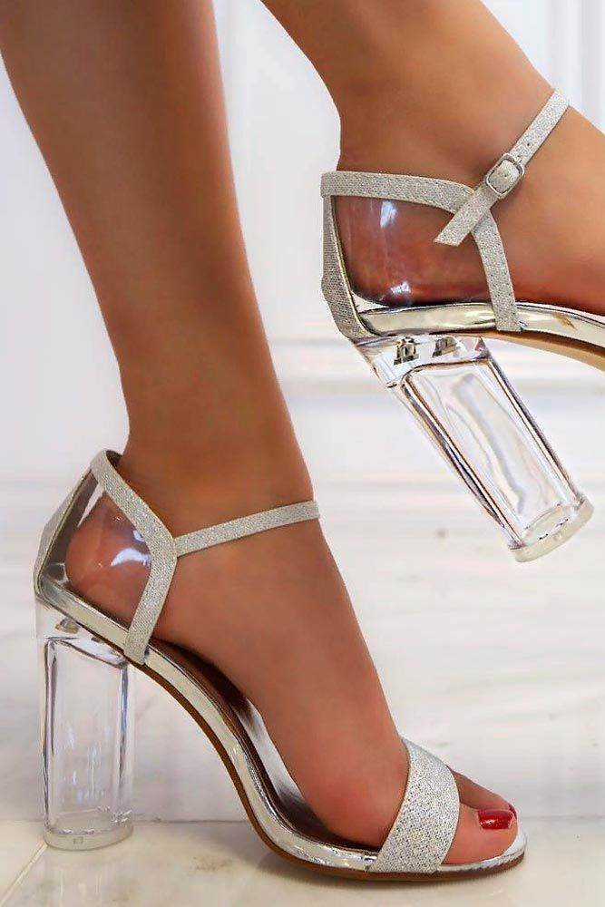Sparkly Sandal Heels #sandal #sparklyheels