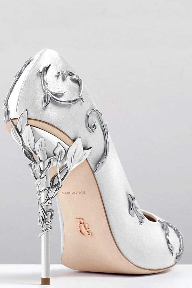 Silver Heels For Prom With Embellished picture 3