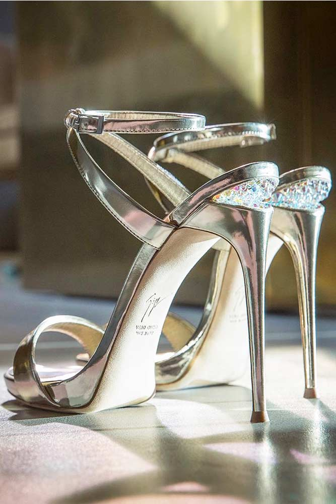 Silver Prom Heels With Rhinestones picture 2