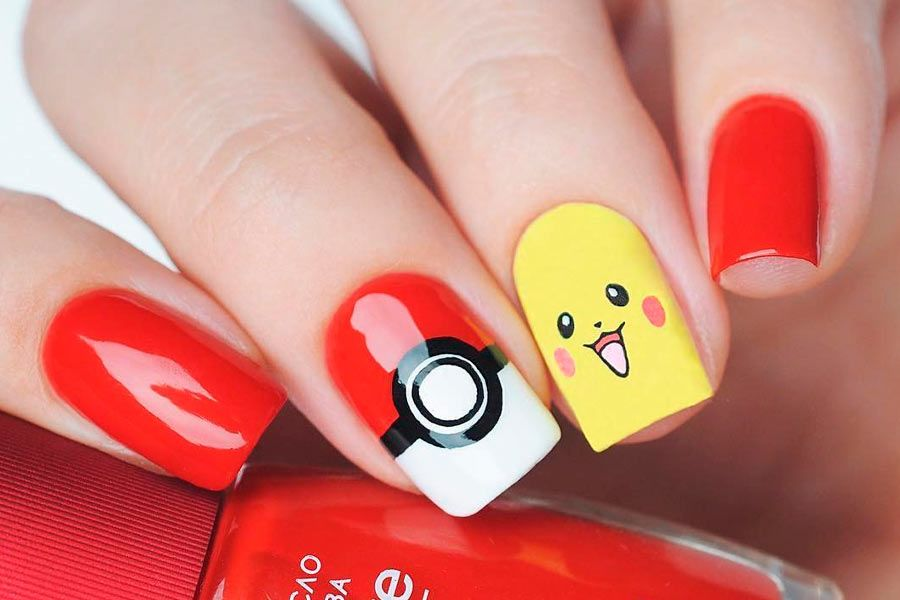 Pokemon Ball and Monsters Nails For True Fans